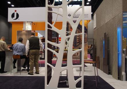 Global Shop 2013 - routed through 3D White High Gloss